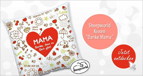 Sheepworld Kissen Danke Mama