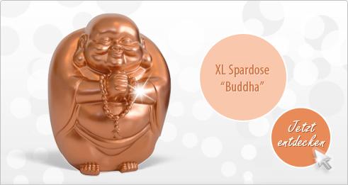 XL Buddha Spardose kupfer