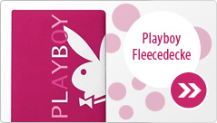 Playboy Bunny Fleecedecke Enjoy pink