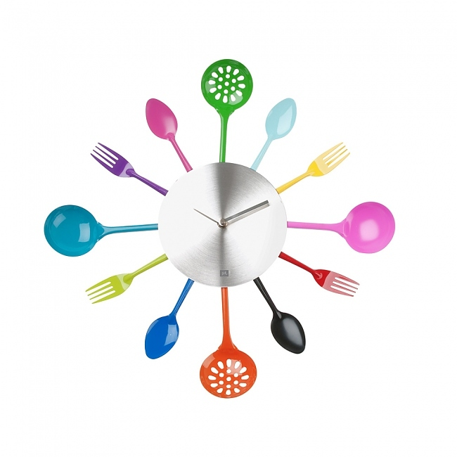 Moderne Küchenutensilien: Presenttime Wanduhr Küchenutensilien Bunt
