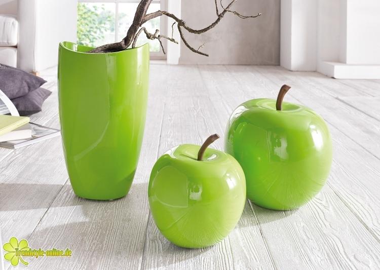 deko apfel green line gro dekroratives tischvasen. Black Bedroom Furniture Sets. Home Design Ideas
