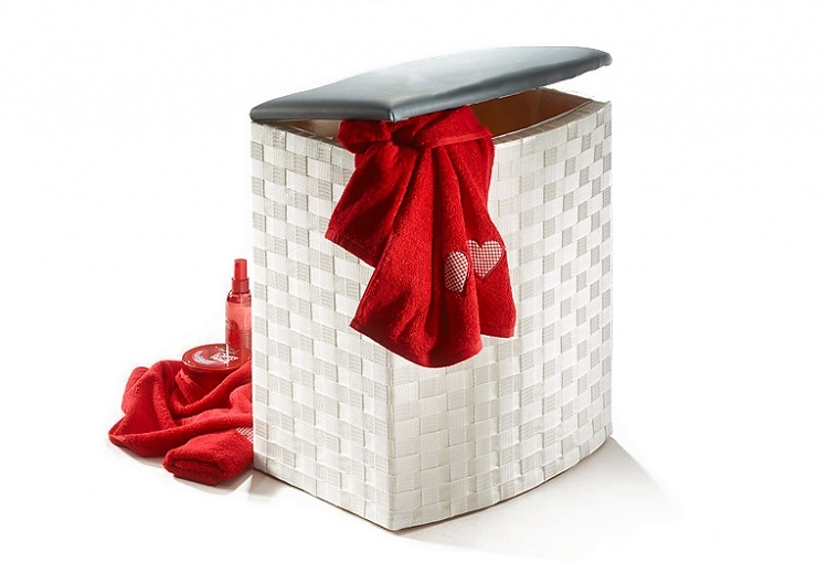 w schekorb wei halbrund w schek rbe badzubeh r art nr 17110 15. Black Bedroom Furniture Sets. Home Design Ideas