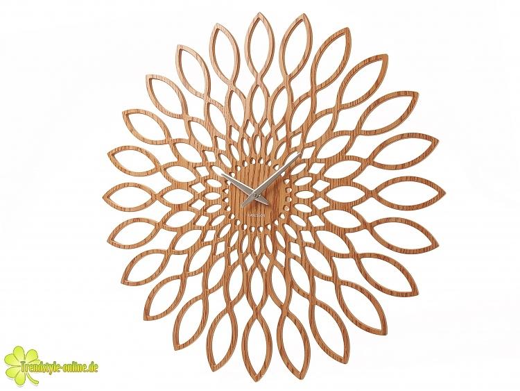 Karlsson Wanduhr karlsson wanduhr sunflower hell 60cm wanduhren in schicken designs