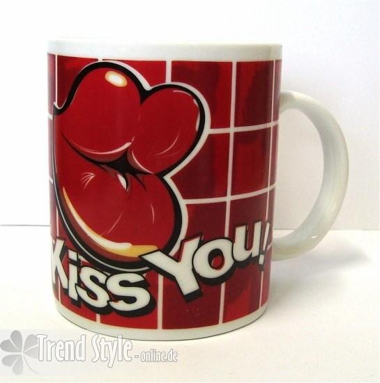 Tasse Comic Love Kiss You Valentinstag Jahrestag Art Nr 788073a