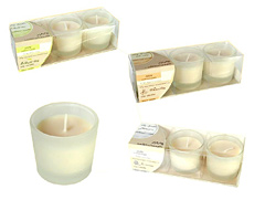 Kerzenset Natural Candle mit Duft