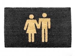 Presenttime Türmatte Man & Woman 45x75cm