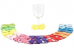 Presenttime Partydeko Glasmarker Schleife 20er