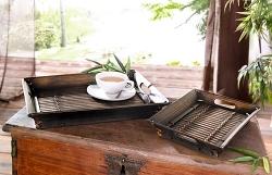 Bambustablett dunkelbraun