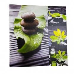 Wandbild Wellness Stone grün 60x60cm