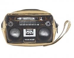Kameratasche Boombox gold