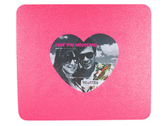 Wanted Mauspad mit Herz-Bilderrahmen Glitter pink