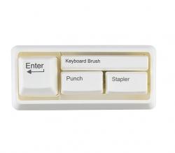 Wanted Schreibtischset Tastatur weiß
