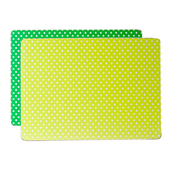 Presenttime Tischset Mini Dots lime & grün 2er Set