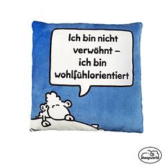 Sheepworld Plüschkissen Wohlfühlorientiert