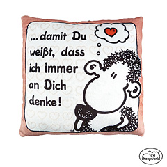 Sheepworld Plüschkissen An Dich Denke