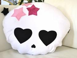 Rockdaddy Kissen Skull Girl Stars