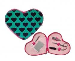 Silly Gifts Maniküre-Set Hearts grün