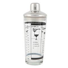 Invotis Glas-Cocktailshaker mit Rezepten