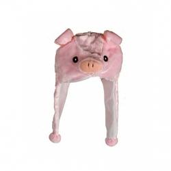 Kids Plüschmütze Tierkopf Schwein