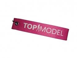 Schlüsselanhänger Topmodel pink Schlüsselband mit Spruch