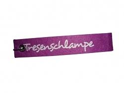 Schlüsselanhänger Tresenschlampe lila Schlüsselband mit Spruch