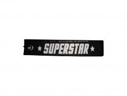 Schlüsselanhänger Superstar schwarz Schlüsselband mit Spruch