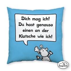 Sheepworld Kissen Klatsche
