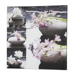 Wandbild Wellness Stone rosa 60x60cm