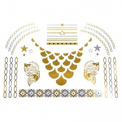 Flash Tattoo Bling Glam gold/silber 24-teilig