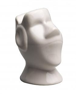 Brillenständer Osterinsel-Kopf weiß