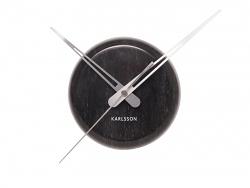 Karlsson Wanduhr Marble Dot schwarz
