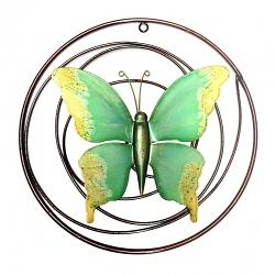 Wanddekoration Schmetterling grün