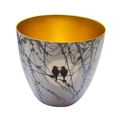 Teelichthalter Nature gold
