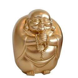 XL Buddha Spardose gold