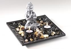 Dekoschale und Kerzenhalter mit Buddha