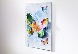 Wandbild 3D Schmetterling bunt