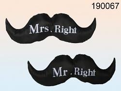 Nackenkissen Schnurrbart Mr. Right & Mrs. Right