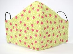 Kindermaske Herzen für Mädchen mit verstellbaren Gummibändern