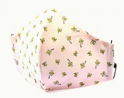 Stoffmaske Schmetterling rosa mit verstellbaren Gummibändern und Größenwahl