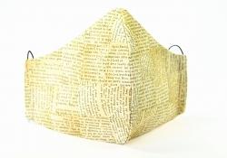 Baumwollmaske Zeitung mit verstellbaren Gummibändern und Größenwahl