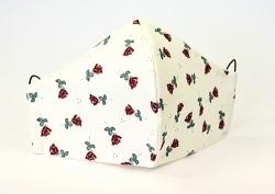 Stoffmaske Rote Rosen mit Filterfach-Option und verstellbaren Gummibändern
