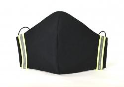 Stoffmaske mit Neon-Reflektoren Lenny Design mit Größenwahl