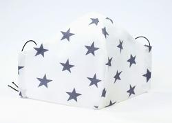 Ergonomische Stoffmaske Big Star jeansblau mit Größenwahl und verstellbaren Gummibändern