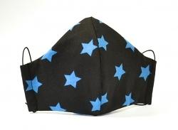 Baumwollmaske Sterne blau mit Größenwahl