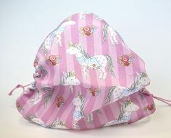 Leichte Stoffmaske Einhorn pink Facie mit Größenwahl 1-lagig