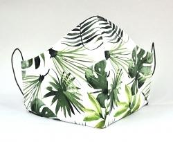 Stoffmaske Palmenblätter grün mit Größenwahl und Einlage optional