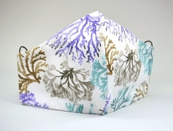 Baumwollmaske Korallen mit Einschubfach-Option und verstellbaren Gummibändern