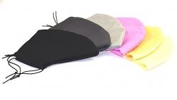 Einfarbige Baumwollmaske Uni 3-lagig mit Einschubfach und Größenwahl