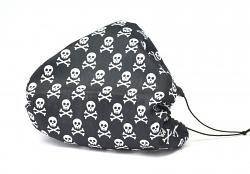 Leichte Stoffmaske Mini Skull Facie 1-lagig mit Nasenbügel-Option & Größenwahl
