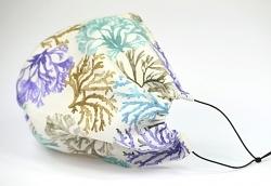 Leichte Stoffmaske Koralle Facie 1-lagig mit Nasenbügel-Option & Größenwahl